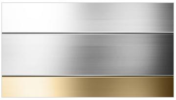 aluminio anodizado plata, bronce, oro, inox y negro