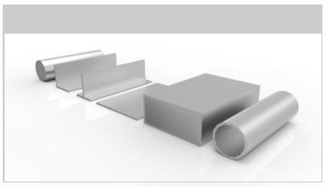 normalizados aluminio: tubos, ángulos, pletinas, chapas...