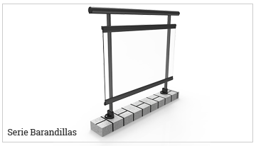 serie barandillas aluminio
