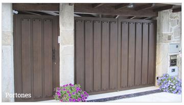 serie portones para fabricación de vallas y puertas