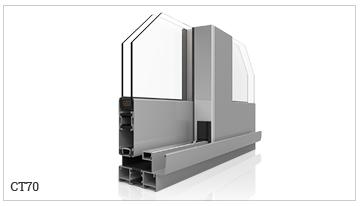 ventanas y puertas correderas perimetral con rotura de puente térmico, serie CT70