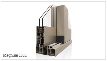 ventanas y puertas correderas con rotura de puente térmico, serie Magnum 150L