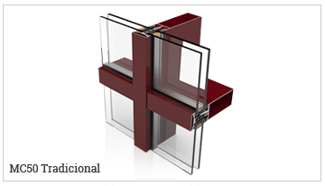 fachada ligera tradicional, serie MC50-TR