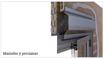 Maineles, guías de persiana, persianas de aluminio