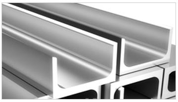 perfil en U de aluminio