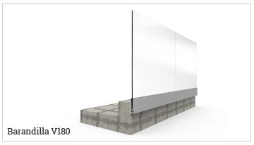 Sistemas de barandilla de vidrio
