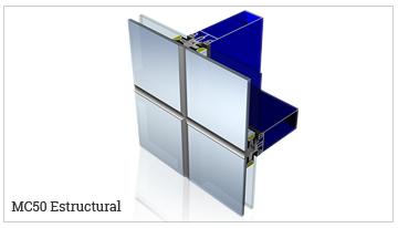 fachada ligera estructural, serie MC50-SE