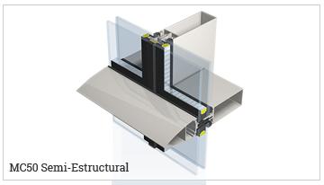 fachada ligera semiestructural, serie MC50-SE