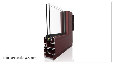 ventana y puerta practicable oscilobatiente serie EuroPractic45. serie fría.